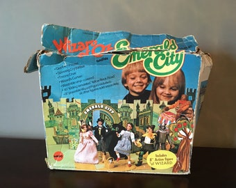 Vintage The Wizard of Oz Emerald City Playset by Mego 1974 - All 7 poseable figures included