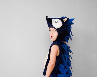 Sonic the Hedgehog Costume, Kid Costume, Comics Cartoons Character Costume, Halloween Costume for Boys or Girls