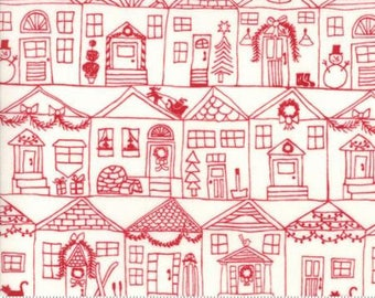 FABRIC MERRY MERRY Christmas Village  by Moda    We combine shipping