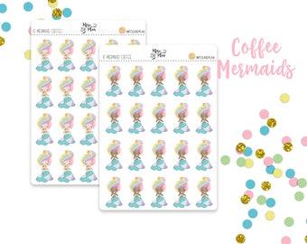 Planner Sticker Icons- Coffee Mermaid Icons