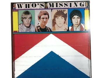 """Two records by The Who, """"Who's Missing"""", """"Two's Missing"""", vinyl record album, classic rock LP, 1980s, live, unreleased, pete townshend"""