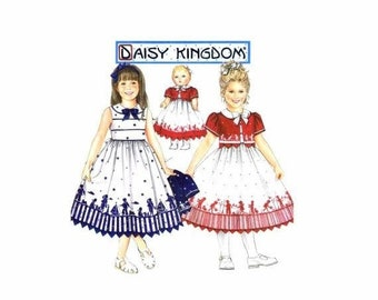 SALE Daisy Kingdom Girls Dress and Jacket with Matching Doll Clothes Simplicity 9640 Sewing Pattern Size 5 - 6 - 7 - 8 UNCUT