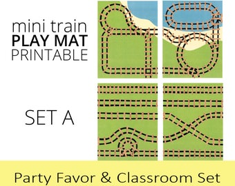 Train Birthday Party Favor and Classroom Set