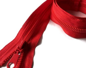 Separable zipper / red / 70cm