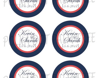 Printable Customized Wedding Favor Tags Gift Tags Stickers