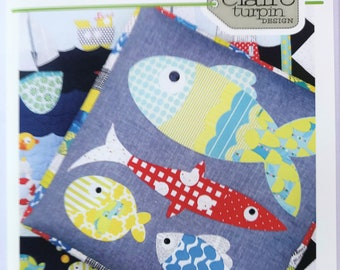 Claire Turbin Fishy Business CT009 Applique Pattern + Instructions