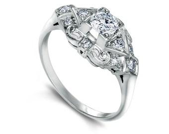 Vintage Platinum & Diamond Ring - just Gorgeous!