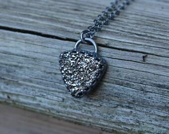 Silver Druzy Necklace, Druzy necklace, Druzy, Silver Druzy, Silver Druzy Necklace, Sterling Druzy Necklace, Sterling Silver
