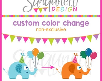 Custom color change, single clipart, non-exclusive