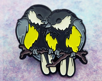 Great Tits Enamel Pin - Borbs