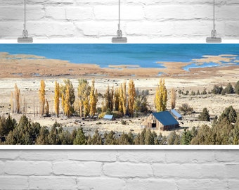 Western Landscape Photo, Farm Landscape, Ranch Landscape Art, Western Picture, Western Art, Panoramic Photo, Autumn Art, Wide Panorama