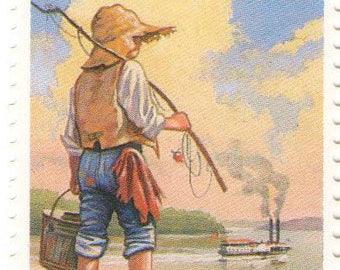 Unused 1993 Huck Huckleberry Finn - Children's Classic Books - Mark Twain - Vintage Postage Stamps Number 2787