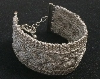 Cable Knitted Bracelet