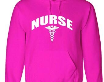 Pink hoodie Nurse - nursing sweatshirt