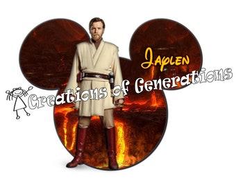 Disney Cruise Door Decoration Magnet - Obi Wan Kenobi - Star Wars
