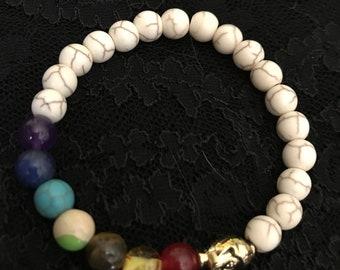 Yoga healing bracelet with Buddha