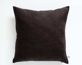 Brown throw pillows, Chocolate brown pillow, Brown decorative pillows, Brown euro shams, brown pillowcase, Brown custom pillow, 16x16  0349