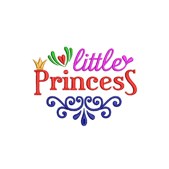 Little Princess Machine Embroidery Design Crown Embroidery