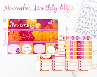 November Monthly Kit | Planner Stickers