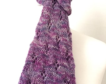 knitting pattern lace scarf