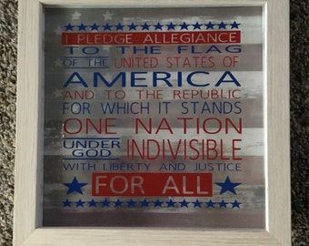 I Pledge Allegiance, to the flag, of the United States of America  picture