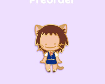 PREORDER HARU Ditto x Anime Movie Enamel Pin [Studio Ghibli The Cat Returns School Uniform Cat Girl Nekomimi Pokemon Parody Flair Badge]