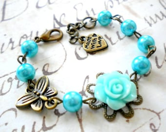 Gift For Flower Girl Pearl Children Bracelet Kid Wedding Jewelry Flower Girl Bracelet Turquoise Bracelet Little Girl Jewelry Animal Jewelry