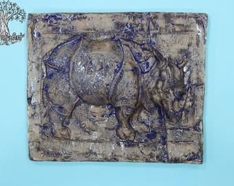 "Panel ""Rhinoceros Indigo"""