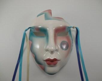 Cherokee Magic Clay Art Mask, Clay Art Wall Mask, Ceramic Wall Mask, Clay Art Face Wall Mask, Clay Art Ceramic Cherokee Magic Face Wall Mask