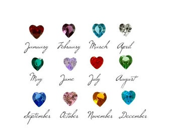 BIRTHSTONE HEART Colored AB Faceted Glass Beads For Floating Charm Locket Necklace You Choose Size 5mm or 4mm