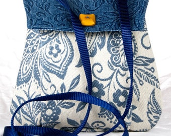 My Perfect Little Purse small purse cross body blue white floral bag
