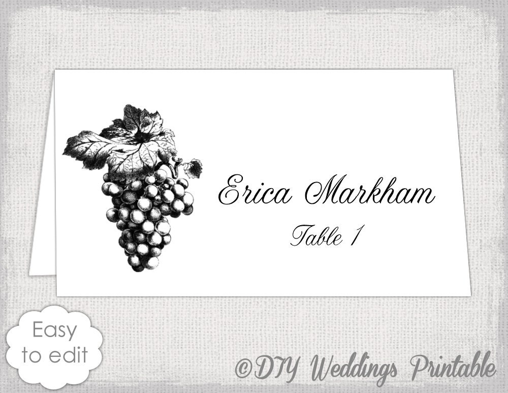 Place Card Template Avery Zrom