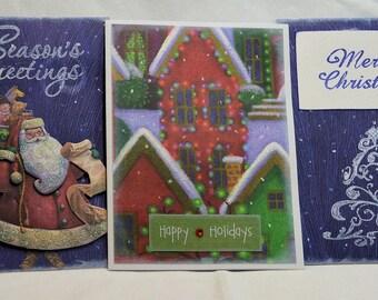 Handmade Christmas card 5-pack