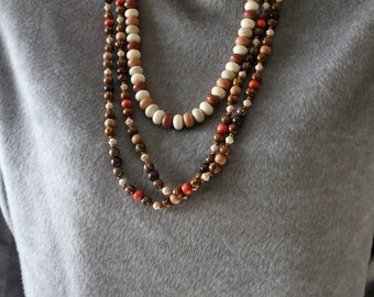 Set of 2 Beaded Necklaces - Wrap Bead Necklace