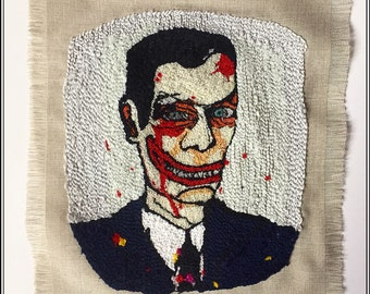 Hand Embroidery of painting.