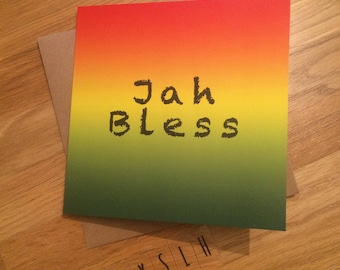 Greetings card jah rastafari unique jamaican greetings card jah rastafari unique jamaican colourful vibrant m4hsunfo