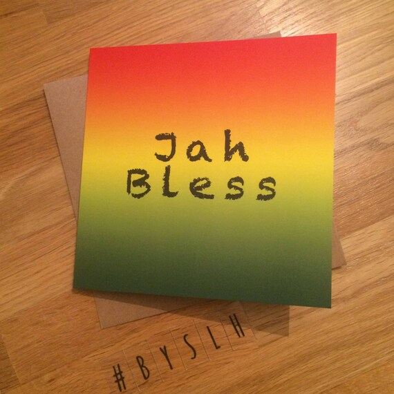 Greetings card jah rastafari unique jamaican m4hsunfo