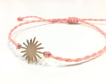 Sunburst Adjustable Friendship Bracelet, Adjustable Bracelets, Sunburst Bracelet, Sun Bracelet, Sun Friendship Bracelet