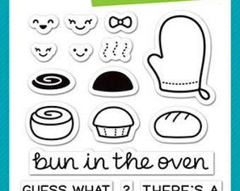Lawn Fawn - Clear Acrylic Stamps - Bun in the Oven