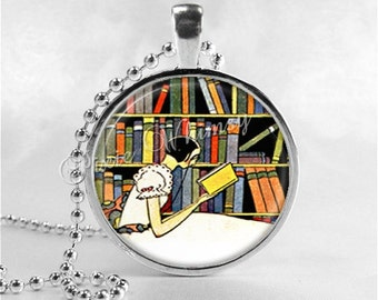 BOOK Necklace, Book Pendant, Book Jewelry, Writer, Author, Book, Reading, Book Lover Jewelry, Book Nerd, Librarian, Library, Bibliophile