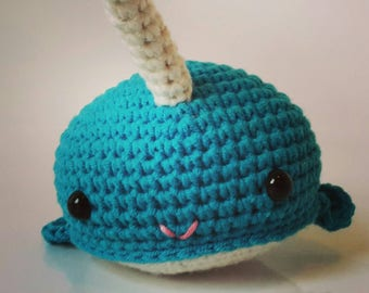 Crocheted Narwhal Plush