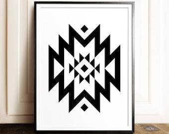 Geometric print, PRINTABLE art, Modern art, Minimalist print, Abstract print, Mid-century modern, Southwestern decor, Gallery wall, Tribal
