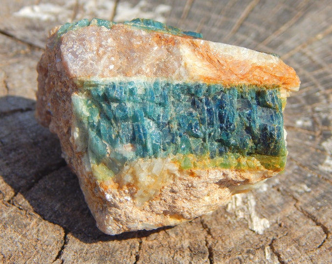 2.2' BLUE Tourmaline Indicolite with Lepidolite in matrix very rare natural gemstone - Reiki Wicca Pagan Geology gemstone specimen