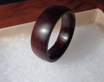 Wood Fall Gifts Wood ring Wooden ring Black Walnut Ring Wood wedding ring Wooden band ring Mens wood ring Womens wood ring