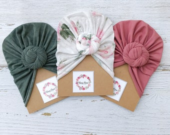 Rustic Rose - 3 Pack Turbans