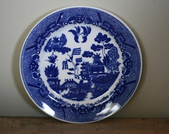 vintage blue willow dinner plate made in japan : blue willow dinner plates - pezcame.com