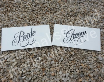 wedding bride, groom mr and mrs sign