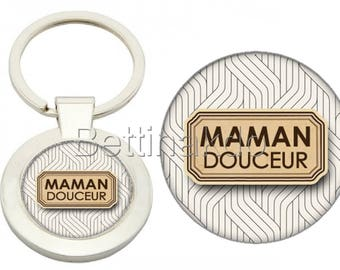 "DELUXE ""SWEET MOM"" KEYCHAIN"