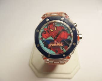 Spiderman Quartz Wrist Watch With Flashing Lights