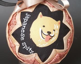 Japanese Spitz Snow Globe Ornament